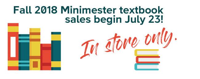 Minimester sales begin July 23!!