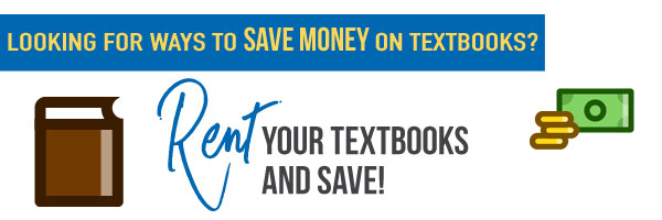 Rent your textbooks and save!