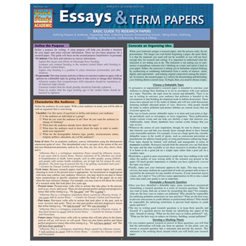 Essays & Term Papers (SKU 10018613141)
