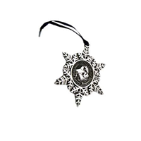 Ornament Pewter Snowflake