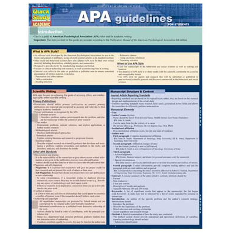 Apa Guidelines (SKU 10298510141)