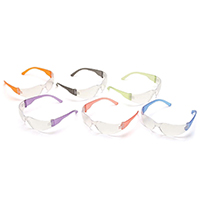 SAFETY GLASSES INTRUDER MULTI COLOR TEMPLES - ASSORTED COLORS