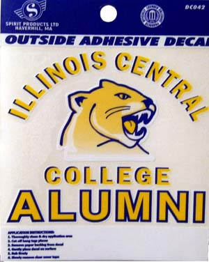 Decal Spirit Products Illinois Central College Alumni With Cougar Head