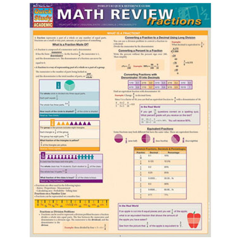 Math Review Fractions (SKU 10385234142)