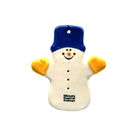 Ornament Snowman With Hat & Mittens