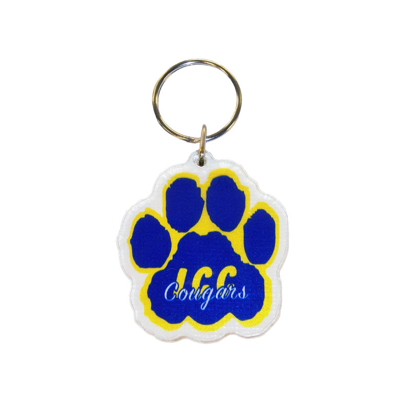 Key Chain Colorshock Acrylic Paw (SKU 1040156972)
