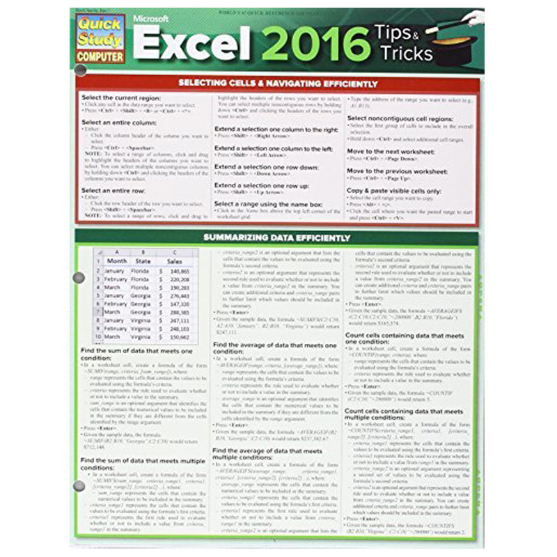 Excel 2016 Tips & Tricks (SKU 10414095154)