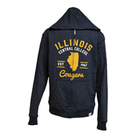 sale FULL ZIP ILLINOIS CC W/STATE COUGARS