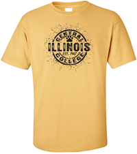 TSHIRT CIRCLE ILLINOIS CC PAW SPLASH COLLEGE HOUSE