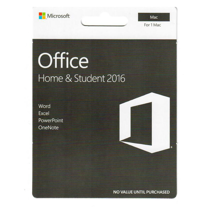Ms Office Mac Home & Student $149.99 (SKU 10424193164)